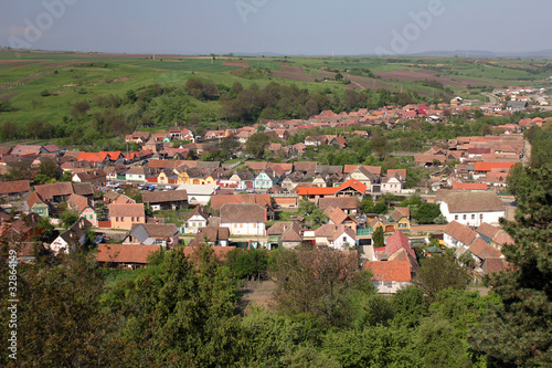 Top view of an village