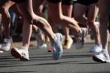 People running in city marathon.. - 32865117