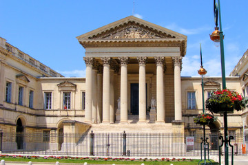 Court of law building in Montpellier, France