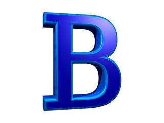 Letra B 3D azul