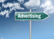 "Signpost ""Advertising"""