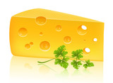 Cheese and parsley