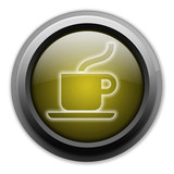 "Yellow Button (Dark/Glow) ""Coffee Shop / Hot Beverage"""