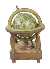 Old World Wooden Globe with Stand