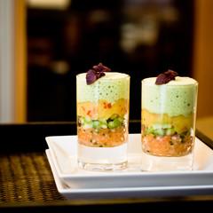 Lachstatar mit Grünem Tee