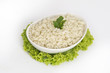 White steamed rice in a bowl