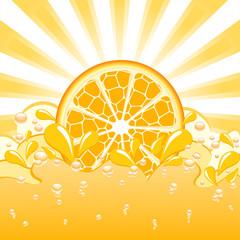 vector illustration of an orange splash