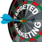 Dart and Dartboard Targeted Marketing Successful Campaign poster