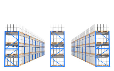 Warehouse Shelves.Part of a Blue Warehouse and logistics series