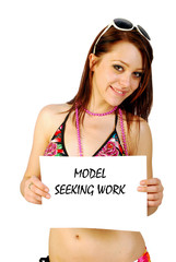 Model seeking work