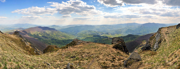 Rocky Carpathian Pikuj peak