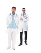 Full length portrait of young male doctors