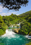 Fototapety Waterfall KRKA in Croatia