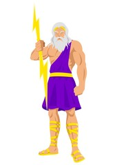 Vector illustration of Zeus, the Father of Gods and men.