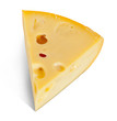 piece of Maasdam cheese
