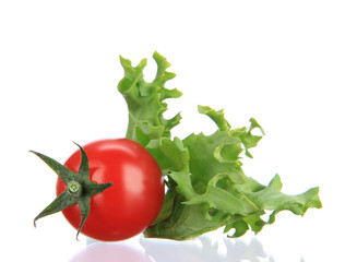 Fresh cherry tomato with salad