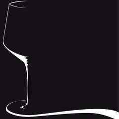 silhouette de verre sur fond noir