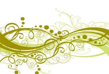 arabesques vertes