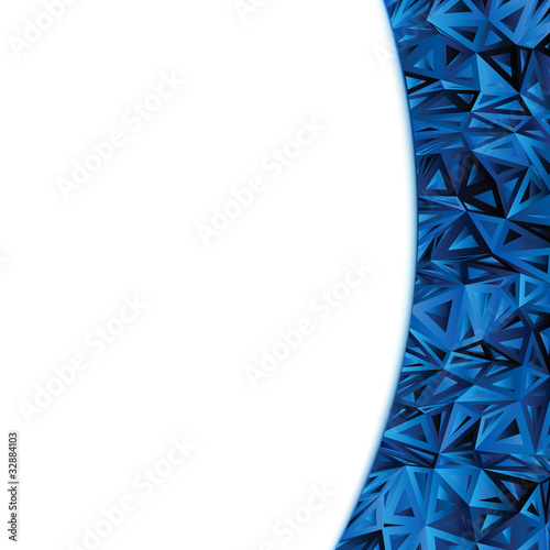 Abstract Blue Vector Design Template. EPS 8