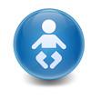 Esfera brillante simbolo bebé