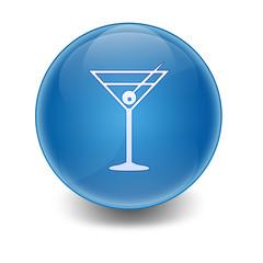 Esfera brillante simbolo coctail