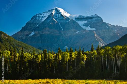 Wczesnym rankiem widok z Mount Robson