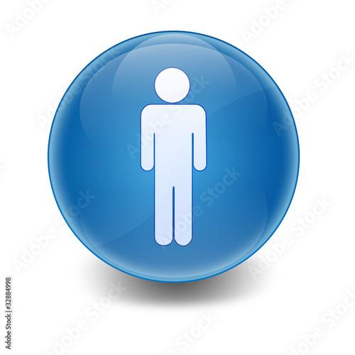 Esfera brillante simbolo hombre