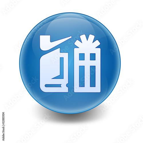 Esfera brillante simbolo tienda de regalos