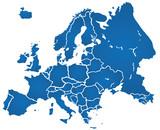 Fototapety Weltkarte Landkarte Europa Karte 1