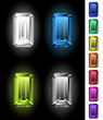 Emerald-cut gemstones collection