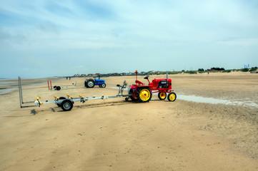 Tracteurs à la plage