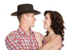 Lucky girl and a guy in stetson