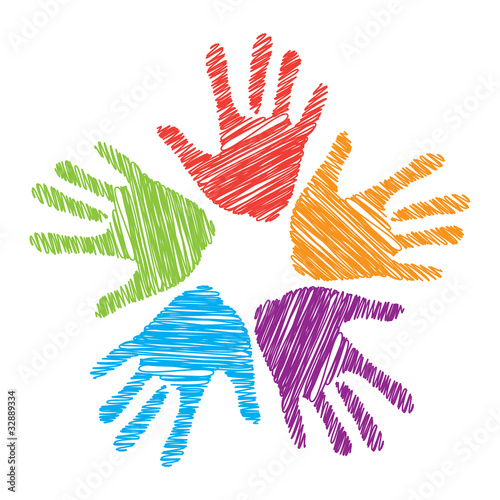 Leinwandbilder,palme,hand,menschlich,vektor
