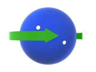 Freccia riciclaggio intorno a pianeta azzurro