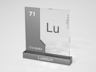 Lutetium - symbol Lu