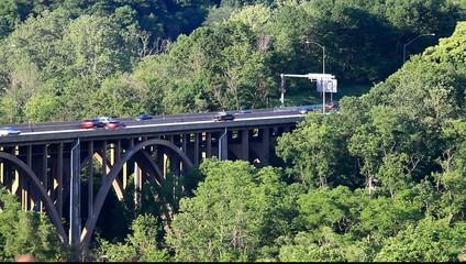 Highway traffic on a bridge, HD