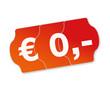 0 Euro Preisschild