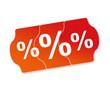 Prozente Preisschild