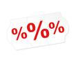 Prozente Schild Verkauf