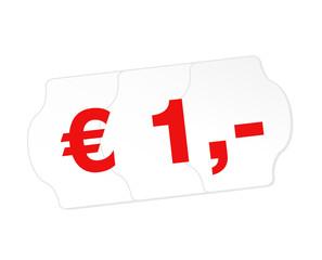 1 Euro Schild