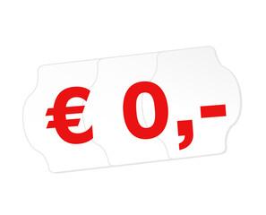 0 Euro, keine Kosten