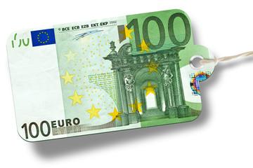 Banknote 100 Euro - etikett