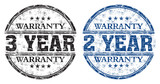 Warranty grunge rubber stamps poster