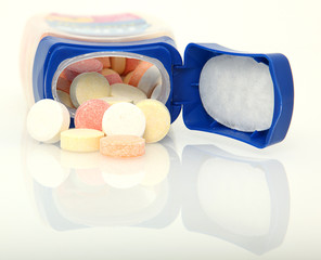 Antacid Tablets Isolated Over White