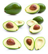 set of avocado images