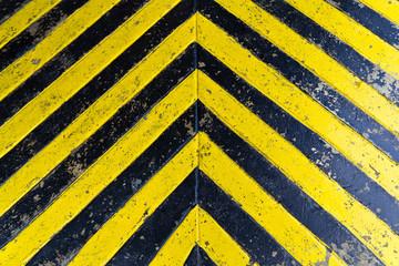 grunge yellow strip on the floor