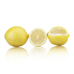 Group of lemons. Isolated on a white background