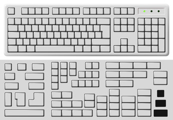 keyboard buttons blank