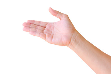 hand sign isolated