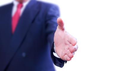 business man would like to shaking hand